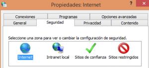 opciones de internet