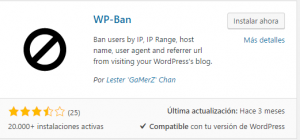 wp ban asegurar wordpress
